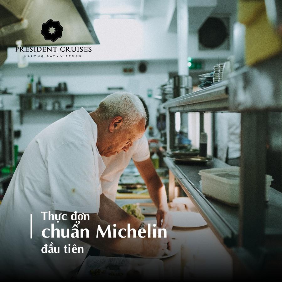 thực đơn Michelin trên tàu President Ha long bay