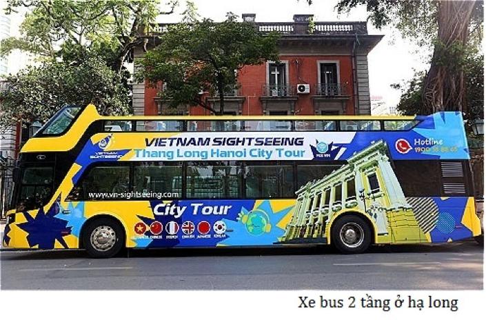 xe bus 2 tầng mui trần hạ long
