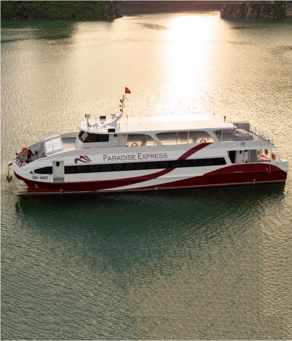 Paradise Express tàu cao tốc sức chứa 189 người, từ Tuần Châu đi Cát bà chỉ 12 phút