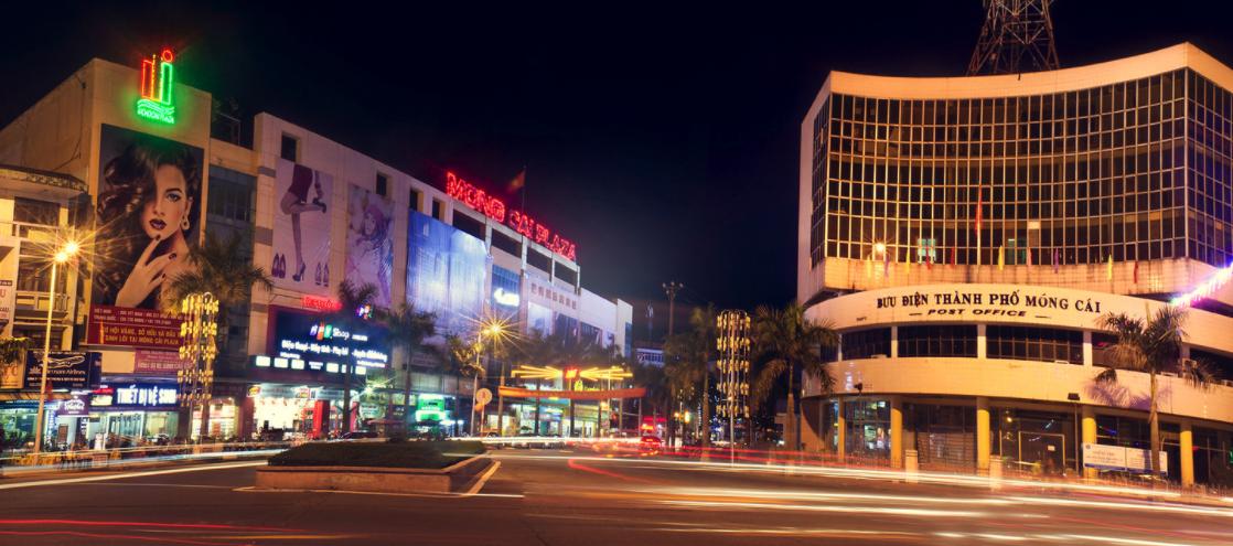 thành phố móng cái về đêm
