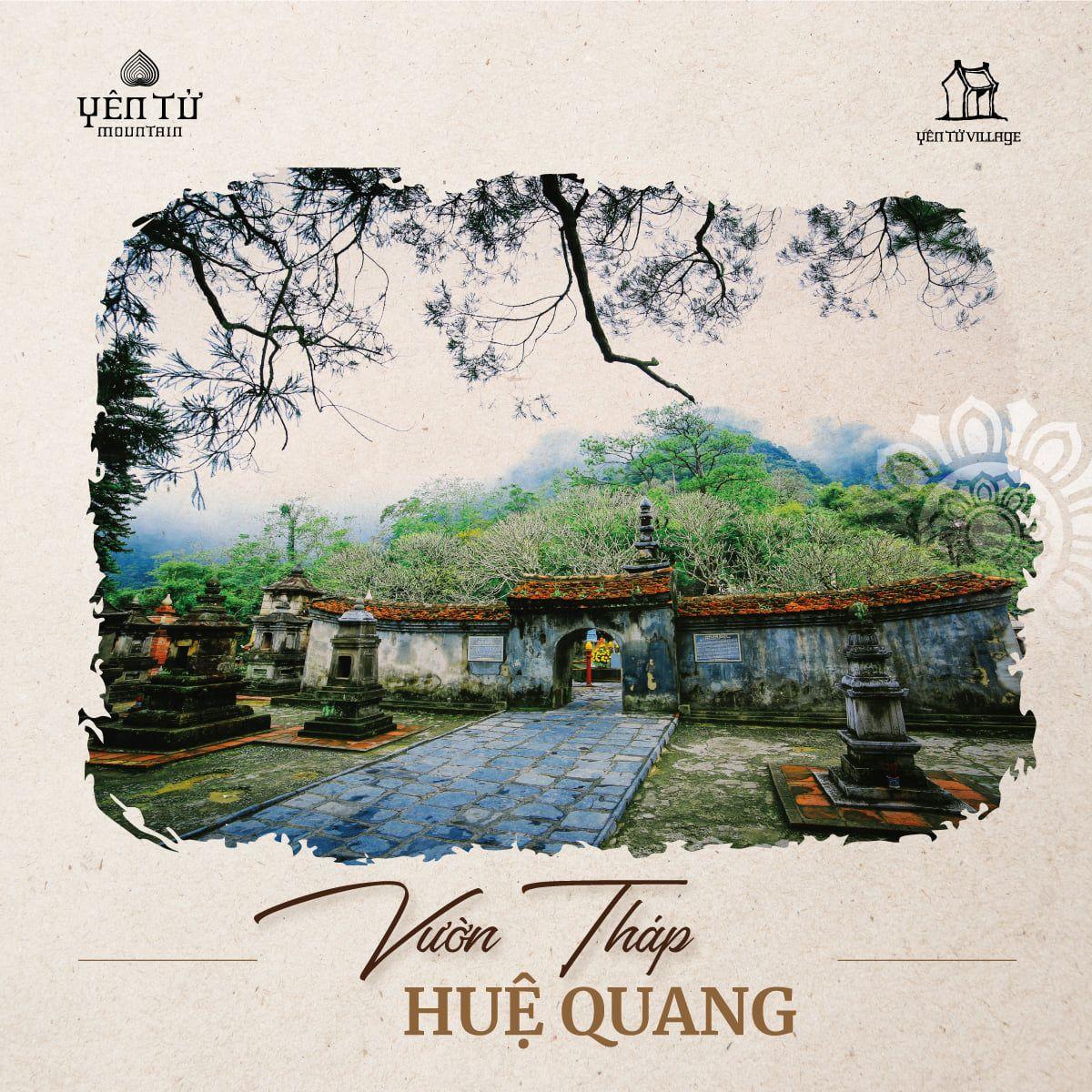 Vườn tháp Huệ Quang Yên tử