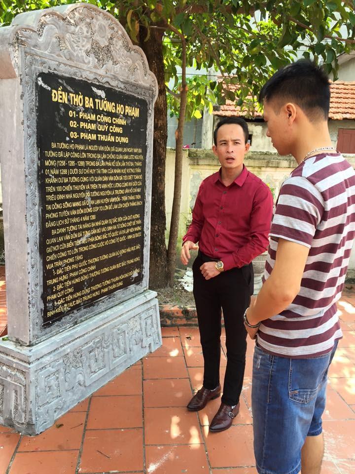 bia tưởng niệm 3 tướng quân họ Phạm