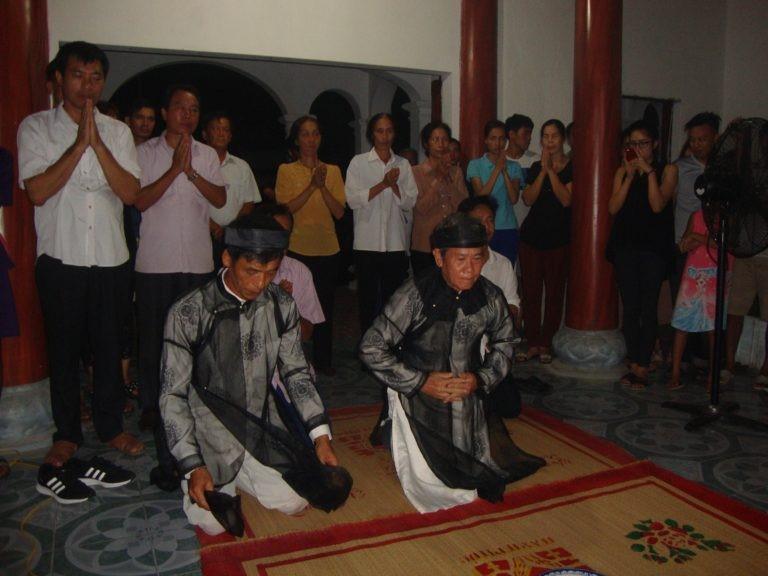 nghi lễ trong đền thờ 3 tướng quân họ Phạm