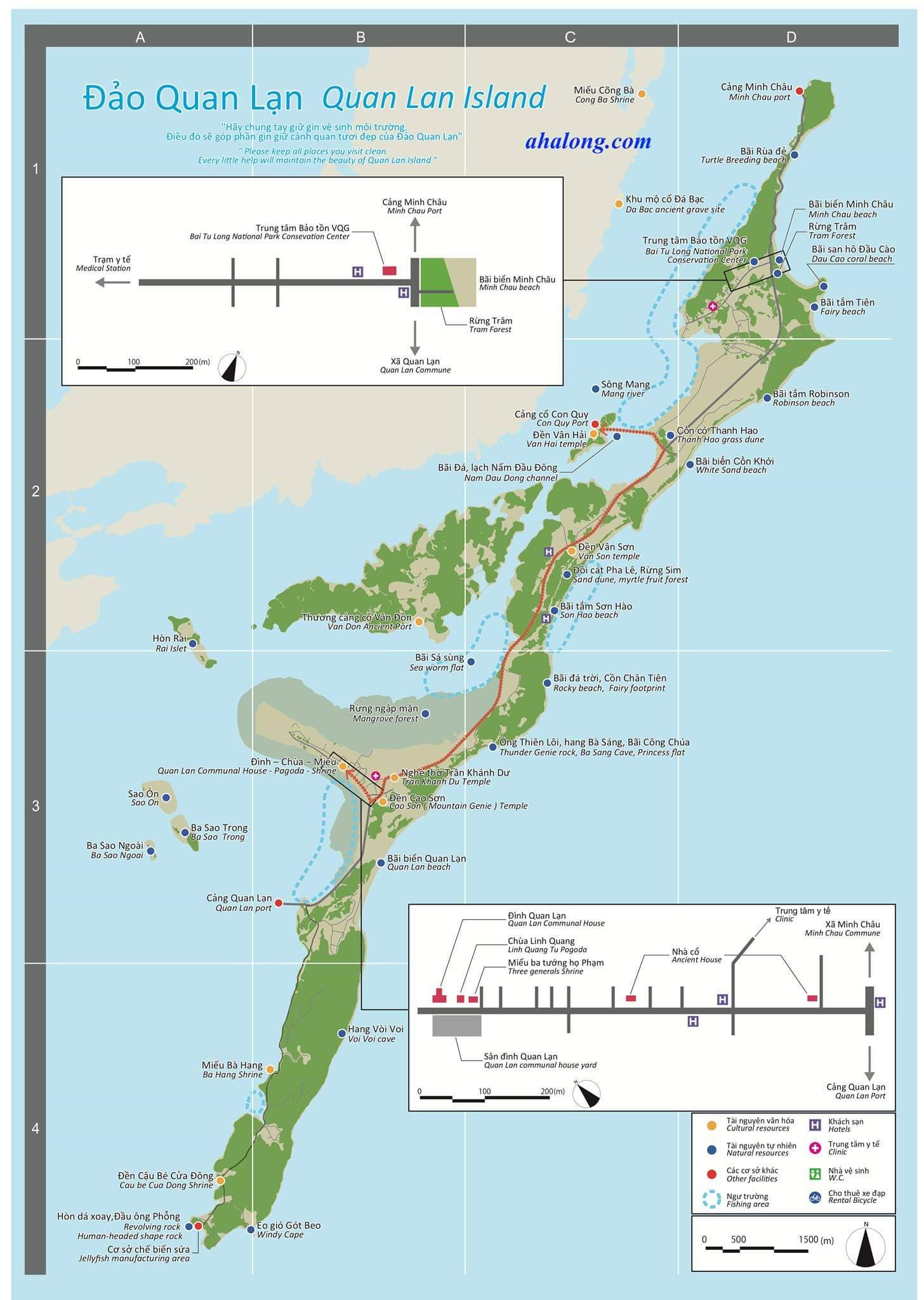 bản đồ đảo Quan Lạn