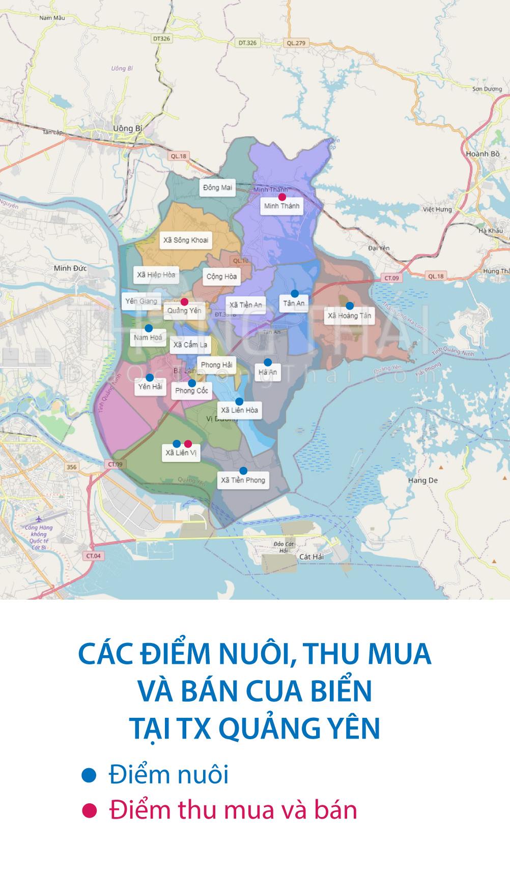 bản đồ cua quảng ninh