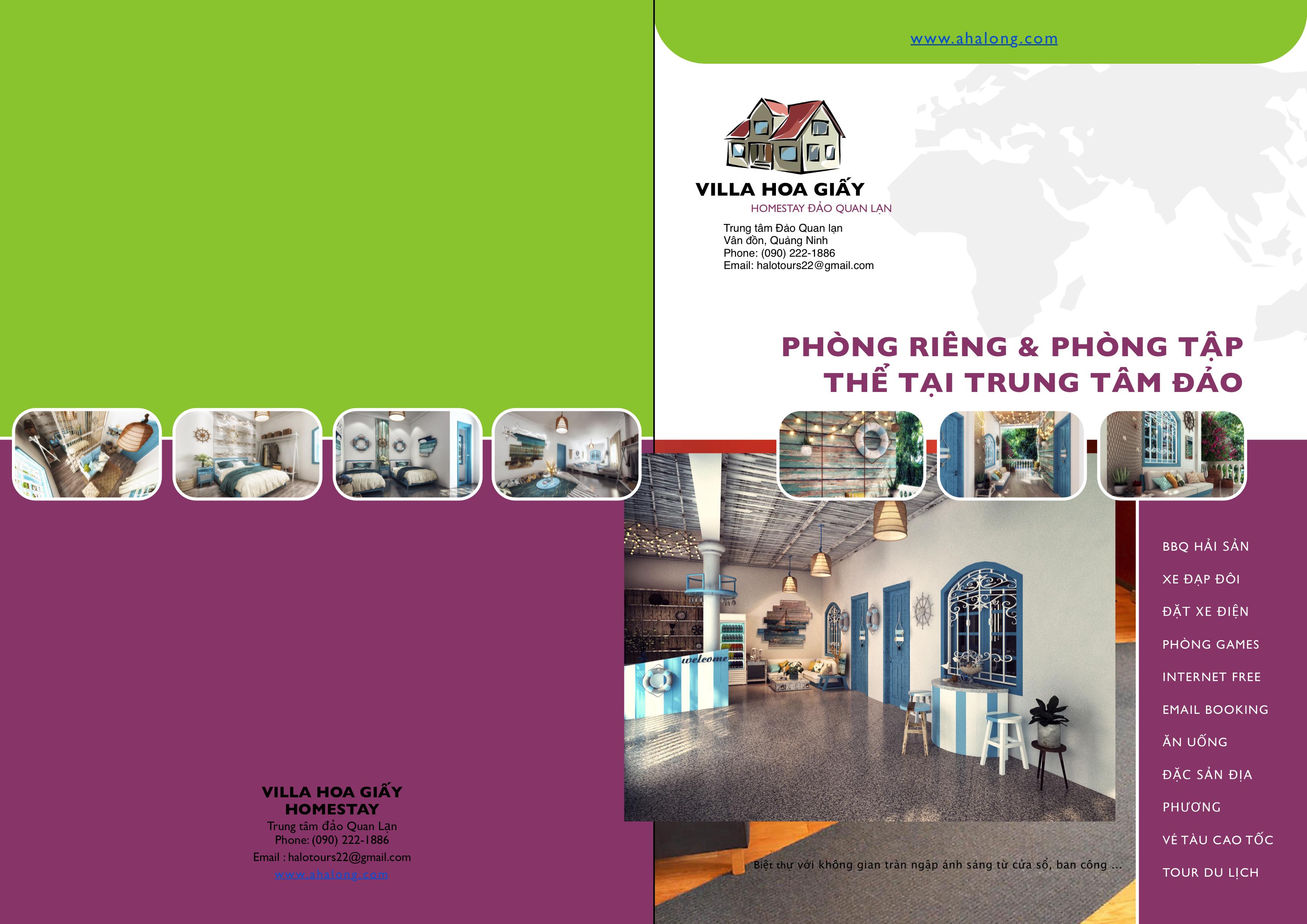 catalog villa hoa giấy homestay đảo quan lạn